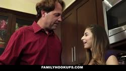 FamilyHookups- Horny Stepdaughter Offers Dad Handjob