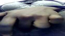 Ebony teen fingers wet pussy while watching TV | EbonySkittles
