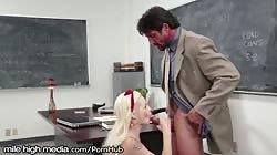Elsa Jean Caught Cheating by Hung Teacher