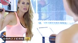 Brazzers - Gym babes Abigail Mac and Nicole Aniston get competitive