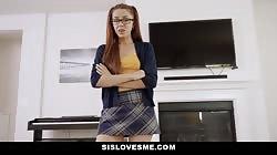 Sislovesme - Dick Loving Stepsis Gets Pounded