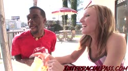 Sweet Emily gets pounded by some big black cock!