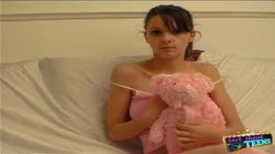 British big boob teen plays with her huge tits