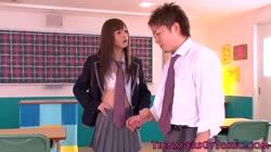 Asian schoolgirl Aino Kishi gets facialized
