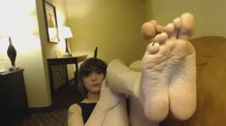 Emo transgender teen girls beautiful feet tease (Ada Black)