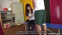 JapanHDV - Coach Erena Yamamoto takes care of a player with her mouth on his cock